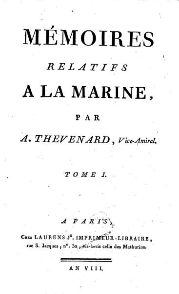 Download M  moires relatifs    la marine Book