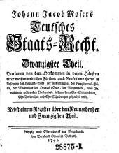 Teutsches Staats-Recht: Band 22