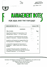 Farm Management Notes for Asia and the Far East PDF
