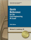 Quick Reference For The Civil Engineering Pe Exam Book PDF