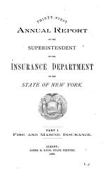 Annual Report of the Superintendent of Insurance of the State of New York