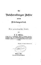 Die Reichersberger Fehde und das Nibelungenlied: eine genealogische Studie