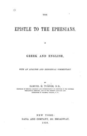 The Epistle to the Ephesians PDF