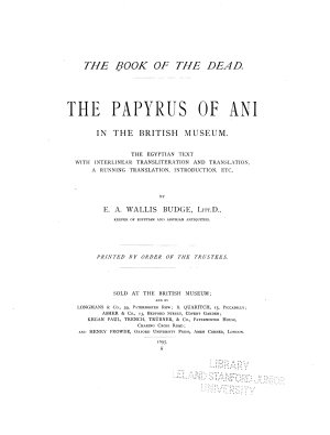 The Book of the Dead PDF
