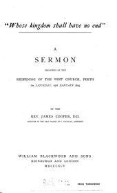 'Whose kingdom shall have no end', a sermon
