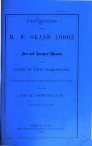 Proceedings of the M  W  Grand Lodge of Free and Accepted Masons of the State of New Hampshire PDF