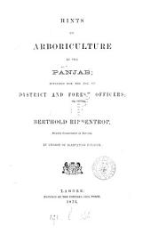 Hints on arboriculture in the Panjab