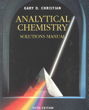 Analytical Chemistry  Solutions Manual