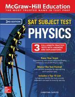 McGraw Hill Education SAT Subject Test Physics Third Edition PDF