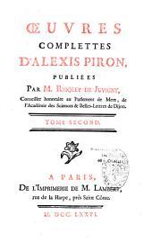 Oeuvres complètes et poésies diverses d'Alexis Piron