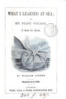 My first voyage   Entitled   What I learned at sea  or  My first voyage PDF