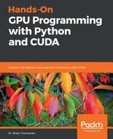 Hands On GPU Programming with Python and CUDA PDF