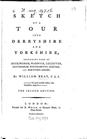 Sketch of a Tour Into Derbyshire and Yorkshire