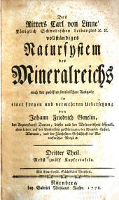 Des Ritters Carl von Linné ... vollständiges Natursystem des Mineralreichs: Band 3