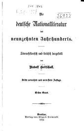 Die deutsche nationalliteratur in der ersten hälfte des neunzehnten jahrhunderts: Band 1