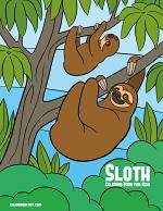 Sloth Coloring Book for Kids 1