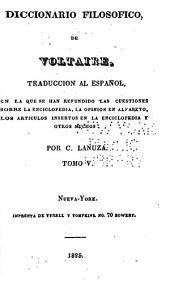 Diccionario filosofico: Volumen 5