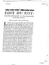 Edit du Roy, concernant les recommandaresses de la ville de Paris, donné à Versailles au mois de Juillet 1729