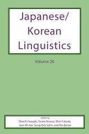 Japanese Korean Linguistics Volume 26 PDF