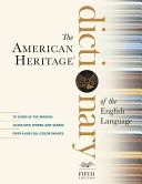 American Heritage Dictionary Of The English Language Fifth Edition