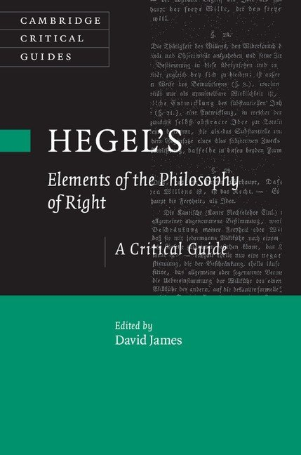 Hegel's `Elements of the Philosophy of Right'