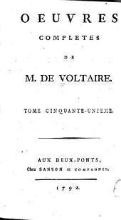 Oeuvres complètes de M. de Voltaire: Volume51