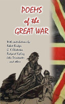 POEMS OF THE GREAT WAR - 17 Poems donated by notable poets for National Relief during WWI