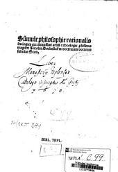 Su[m]mule philosophie rationalis seu logica