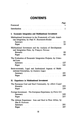 Multinational Investment  Public and Private  in the Economic Development and Integration of Latin America PDF