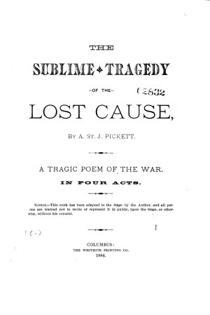 The Sublime Tragedy of the Lost Cause PDF
