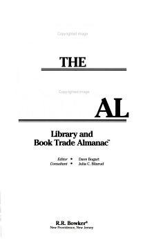 The Bowker Annual 1998 PDF
