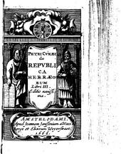 Petri Cunaei De Republica Hebraeorum Libri tres
