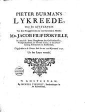 Lykreede over het afsterven van Mr. J.F. d'Orville