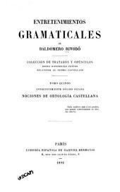 Entretenimientos gramaticales: colección de tratados y opúsculos sobre diferentes puntos relativos al idioma castellano, Volumen 5