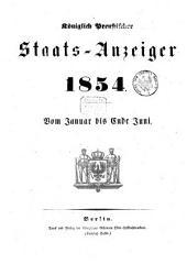 Königlich Preußischer Staats-Anzeiger: 1854, 1 - 6