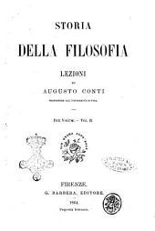 Storia della filosofia lezioni di Augusto Conti: Volume 2