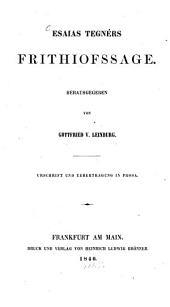 Frithjofssage: Urschrift und Uebertragung in Prosa