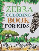 Zebra Coloring Book For Kids