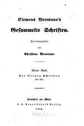 Gesammelte Schriften: Der kleinen Schriften erster Theil, Band 4