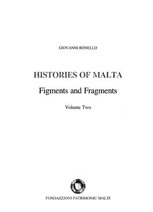 Histories of Malta