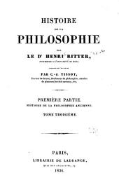 Histoire de la philosophie: Volume3