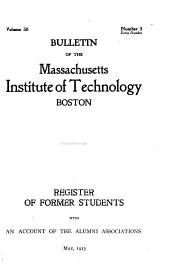 Register of Former Students with an Account of the Alumni Associations, May 1915
