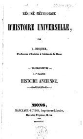 Résumé méthodique d'histoire universelle: histoire ancienne