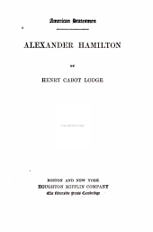Alexander Hamilton: Volume 7