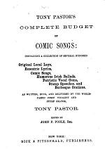 Tony Pastor's Complete Budget of Comic Songs