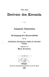 Über einige Derivate des Kreosols