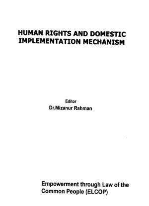 Human Rights and Domestic Implementation Mechanism PDF