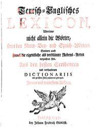 Teutsch englisches Lexicon  2  U  Verb  Aufl PDF