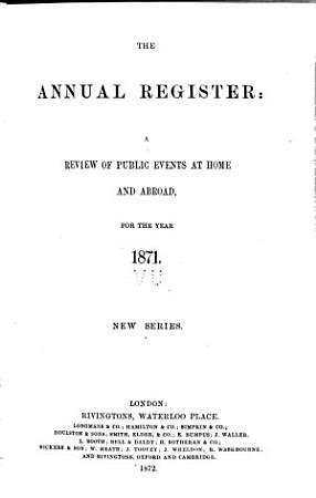 The Annual Register of World Events PDF