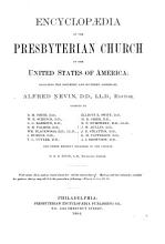 Encyclop  dia of the Presbyterian Church in the United States of America PDF